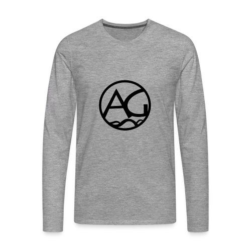 AG - Miesten premium pitkähihainen t-paita