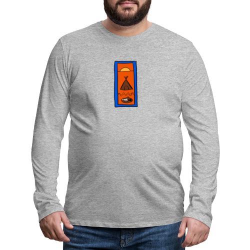 Samisk motiv - Premium langermet T-skjorte for menn