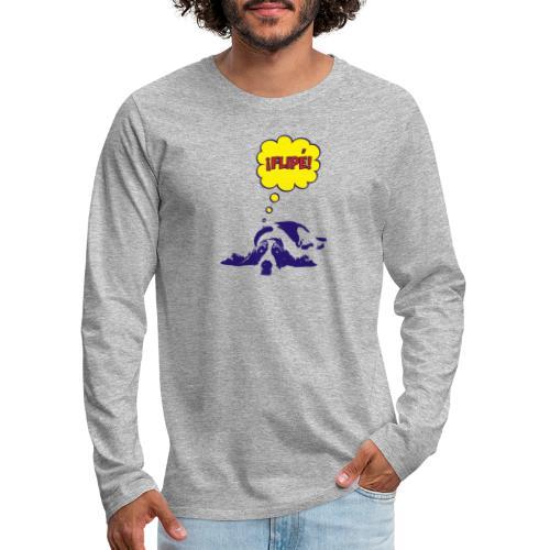 fiple - Camiseta de manga larga premium hombre