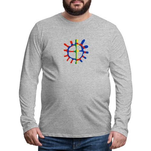 Samisk sol - Premium langermet T-skjorte for menn