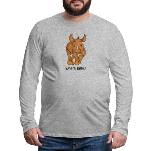 Save the Rhino - Men's Premium Longsleeve Shirt