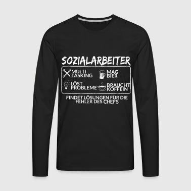 Der Sozialarbeiter - Männer Premium Langarmshirt