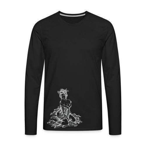Geisha (grey) - Männer Premium Langarmshirt