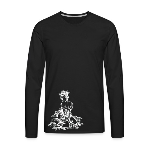 Geisha (white) - Männer Premium Langarmshirt