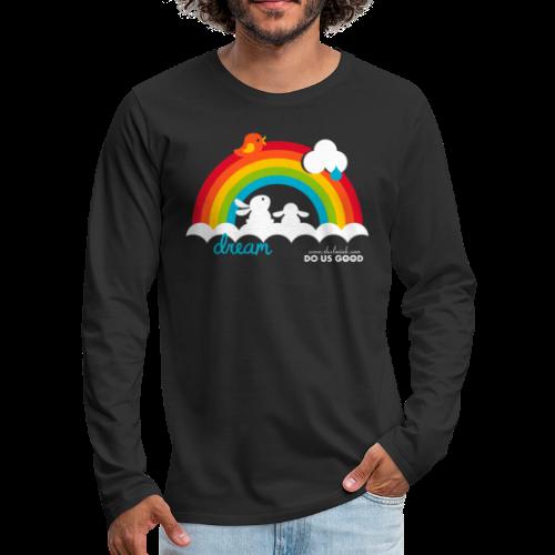 DREAM - Miesten premium pitkähihainen t-paita