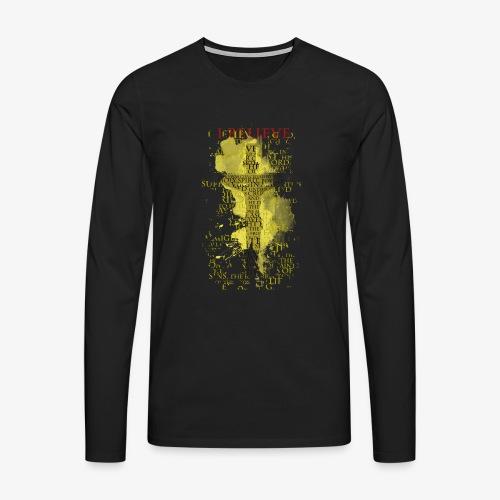 I believe / wierzę (yellow-żółty) - Koszulka męska Premium z długim rękawem