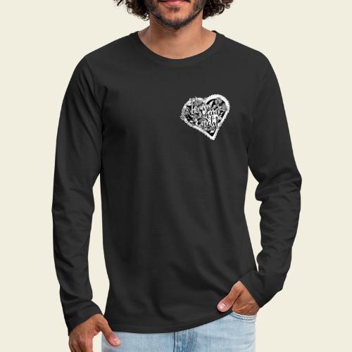 Vergissmeinnicht-Herz mit weißem Hintergrund - Männer Premium Langarmshirt