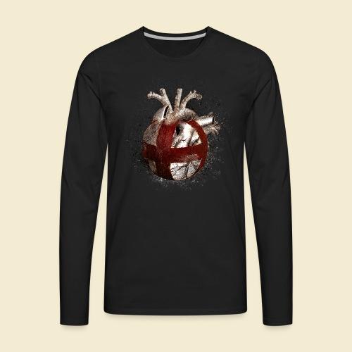 Radball | Cycle Ball Heart - Männer Premium Langarmshirt