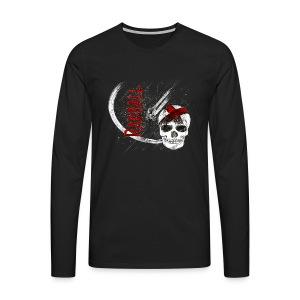 Radball | Cycle Ball Skull - Männer Premium Langarmshirt