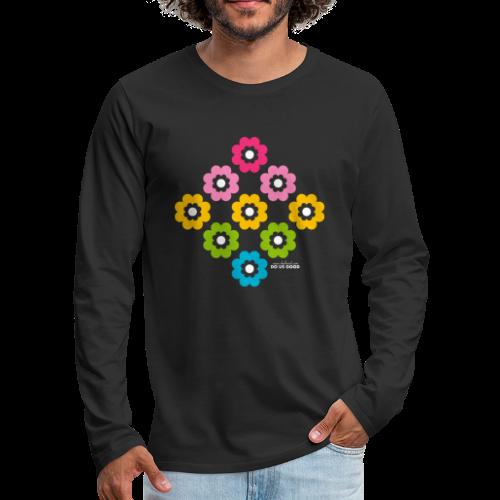 RAINBOW BLOOM - Miesten premium pitkähihainen t-paita