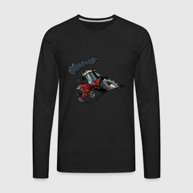 0714 IH745XL - Koszulka męska Premium z długim rękawem