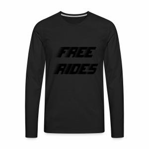 Free Rides - Mannen Premium shirt met lange mouwen