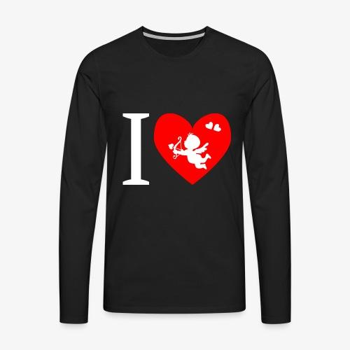 cupidon rouge blanc, I love - T-shirt manches longues Premium Homme