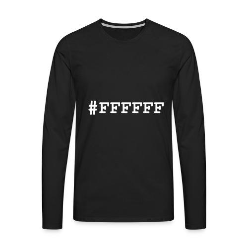 ffffff - T-shirt manches longues Premium Homme