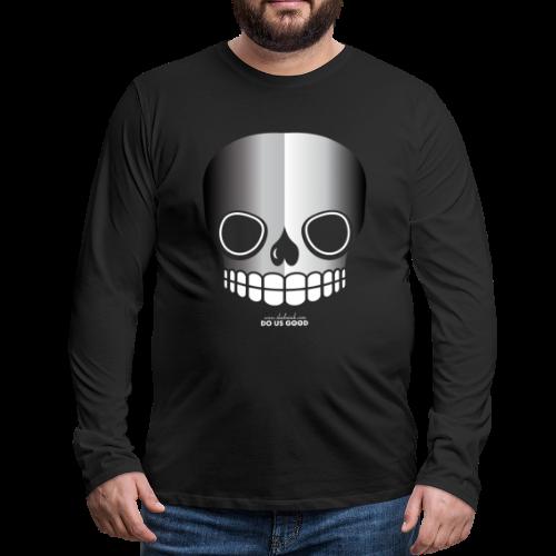 JUST SKULL bw - Miesten premium pitkähihainen t-paita