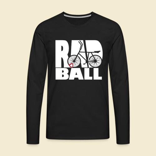 Radball | Typo - Männer Premium Langarmshirt