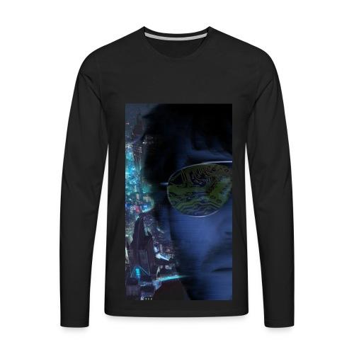 Cyberpunk - Fly verkligheten med en T-shirt - Långärmad premium-T-shirt herr