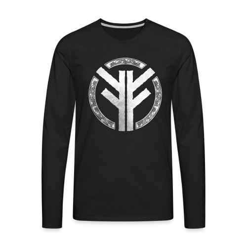Forefather symbol white - Men's Premium Longsleeve Shirt
