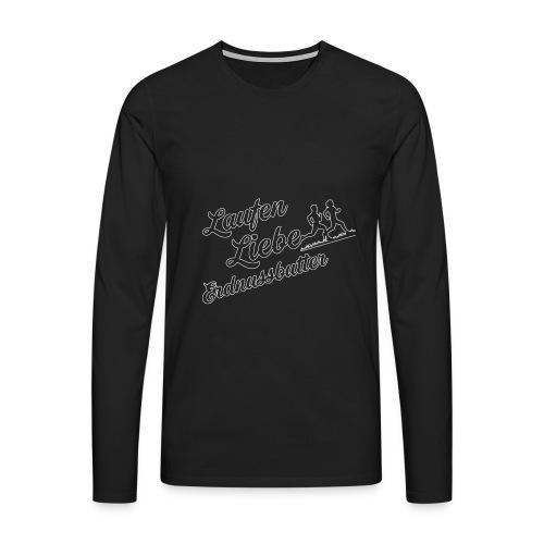 Laufen Liebe Erdnussbutter - Schlicht! - Männer Premium Langarmshirt