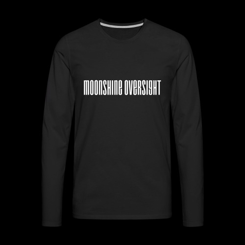 moonshine oversight blanc - T-shirt manches longues Premium Homme