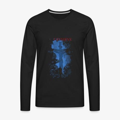 I believe / wierzę - Koszulka męska Premium z długim rękawem