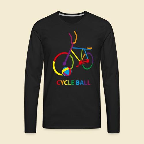 Radball | Cycle Ball Rainbow - Männer Premium Langarmshirt