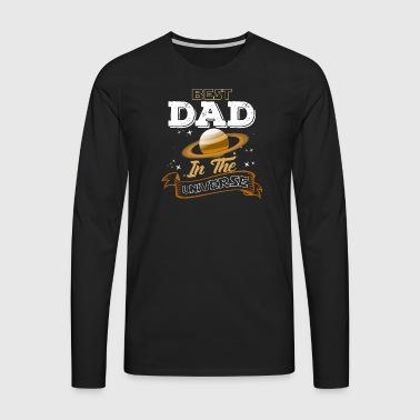 Migliore papà nell'universo - Maglietta Premium a manica lunga da uomo