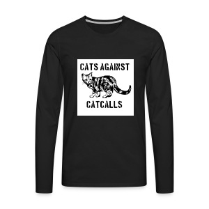 Cats against catcalls - Men's Premium Longsleeve Shirt