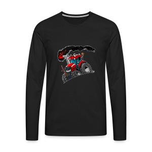 RED TRACTOR white border - Mannen Premium shirt met lange mouwen