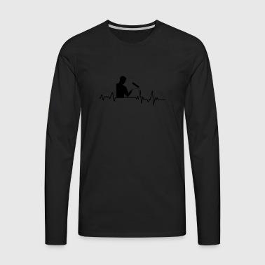Heartbeat målare t-shirt present färg hantverkare - Långärmad premium-T-shirt herr