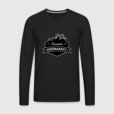 Dusseldorf Niemcy - Koszulka męska Premium z długim rękawem