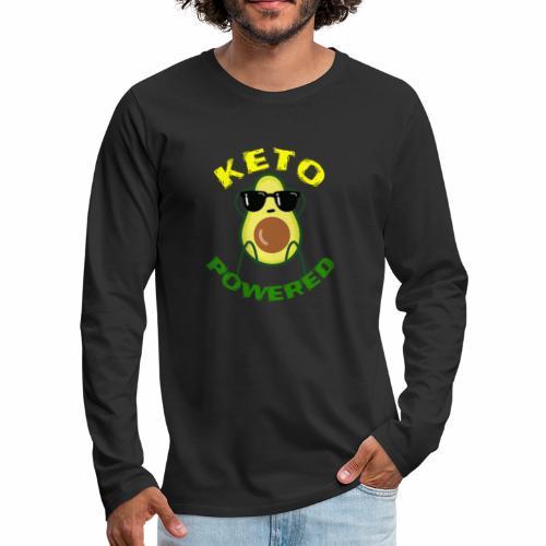 Keto powered - Keto Low Carb T-Shirt - Männer Premium Langarmshirt