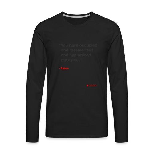 Mesmerized by Ruben - Herre premium T-shirt med lange ærmer