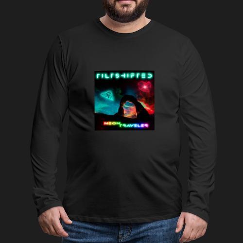 TiltShifted - Neon Traveler - Miesten premium pitkähihainen t-paita