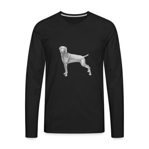 weimaraner - Herre premium T-shirt med lange ærmer