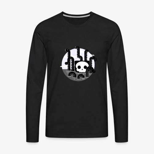 Cat octopus | Monster cat Github | Css | Web - Men's Premium Longsleeve Shirt