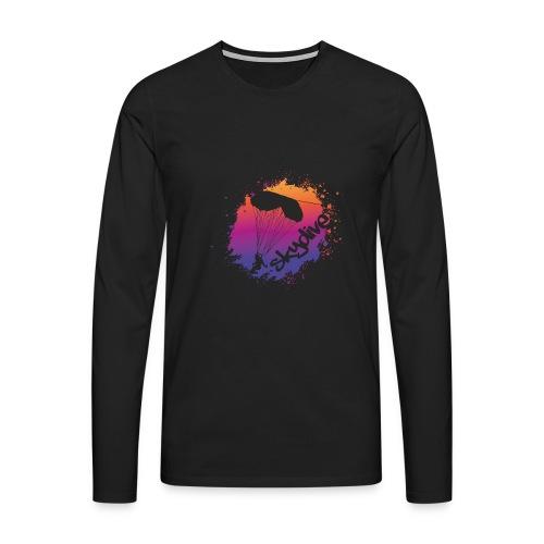 Skydive Watercolor - Männer Premium Langarmshirt