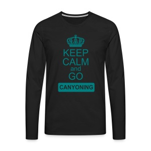 keep calm and go canyoning 2 - Männer Premium Langarmshirt