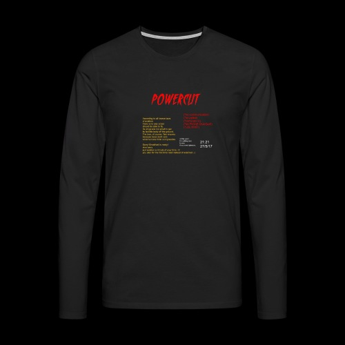 POWERCUT Script LS TEE - Men's Premium Longsleeve Shirt