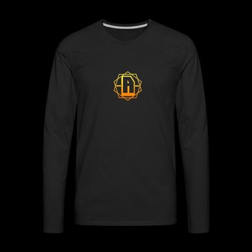 'A' Design Gold Edition - Men's Premium Longsleeve Shirt