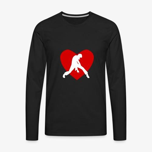 coeur rocker blanc - T-shirt manches longues Premium Homme
