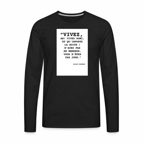 Cendrars#02 - T-shirt manches longues Premium Homme