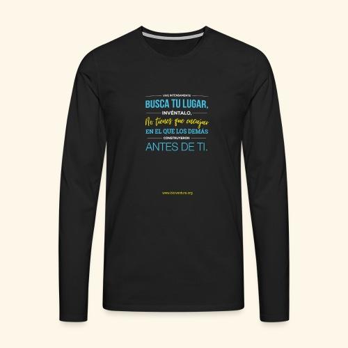 Busca tu lugar - Camiseta de manga larga premium hombre