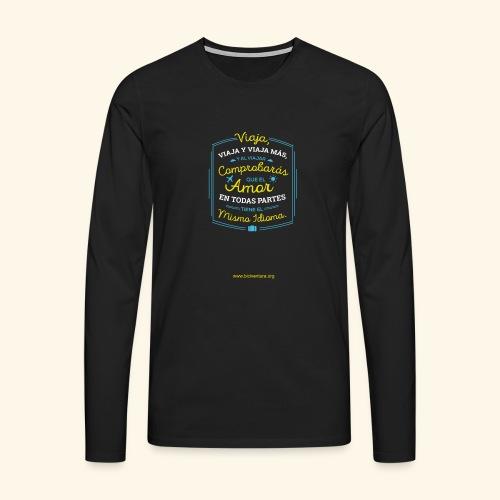 VIAJA - Camiseta de manga larga premium hombre