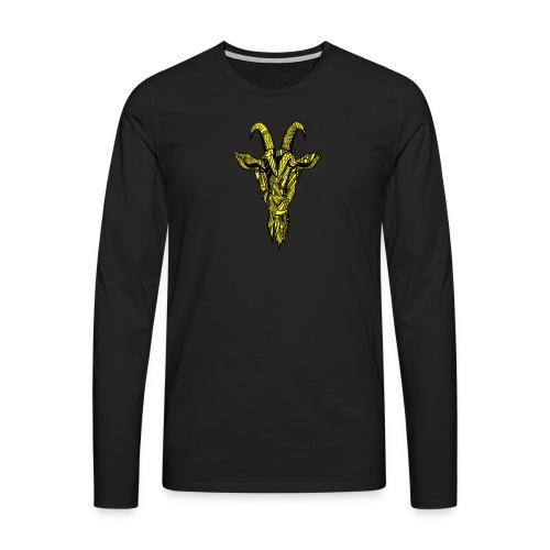 Geit - Premium langermet T-skjorte for menn