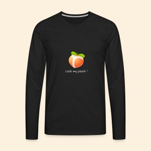 Look my peach in white - Men's Premium Longsleeve Shirt