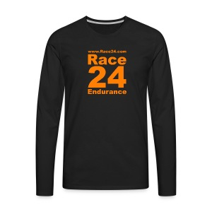 Race24 Logo in Orange - Men's Premium Longsleeve Shirt