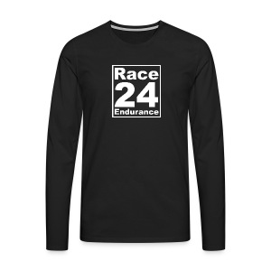 Race24 Logo - White - Men's Premium Longsleeve Shirt
