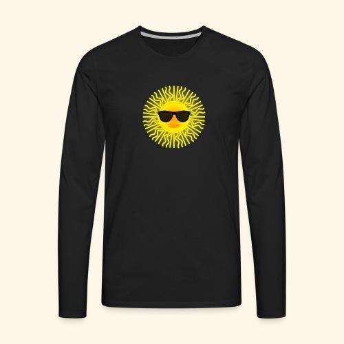 Sol de Canarias - Camiseta de manga larga premium hombre