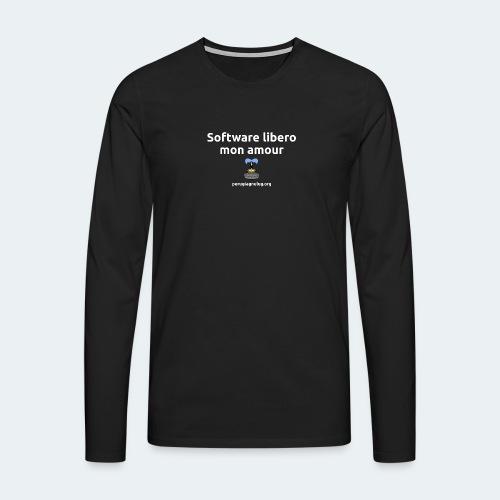 Software libero mon amour - Maglietta Premium a manica lunga da uomo